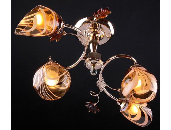 Люстра Eurosvet 9439/4 золото/коричневый