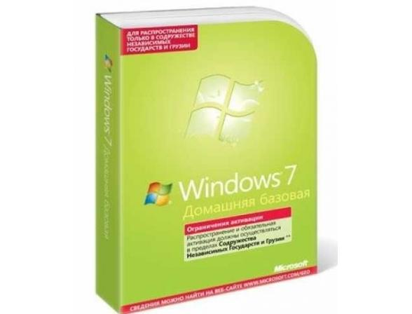 Microsoft ПО MS Win Home Basic 7 SP1 32-bit Russian CIS&Georgia 1pk OEI DVD (F2C-00884) license+id606587