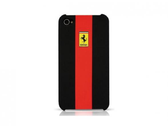 Чехол Ferrari для iPhone 4/4s Hard Case Rubber Touch (красный)