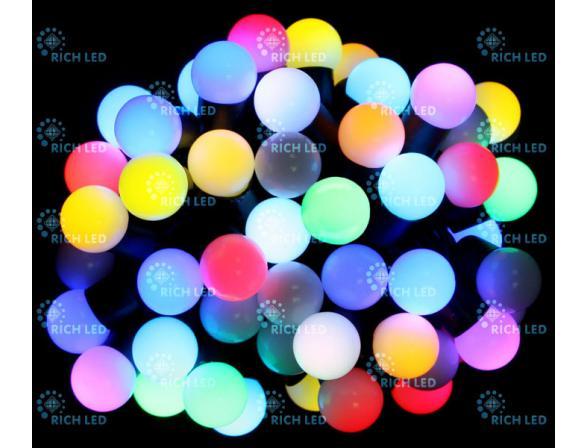 Светодиодная гирлянда Rich LED Шарики 7.5 м 50 LED-шариков 18 мм
