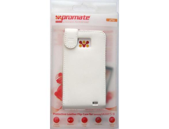 Чехол Promate Кожанный для Samsung Galaxy SII (White) Promate (Gflip)