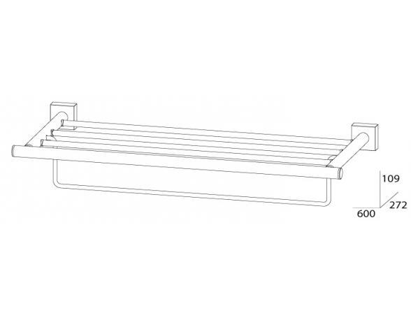 Полка для полотенец с нижним держателем FBS ESPERADO 60 см ESP 042