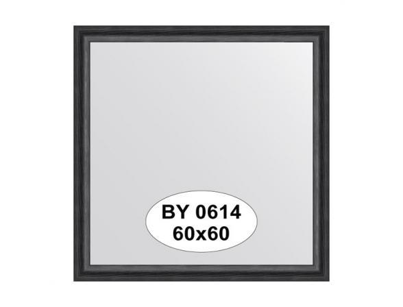 Зеркало в багетной раме EVOFORM дуб черный (60х60 см) BY 0614