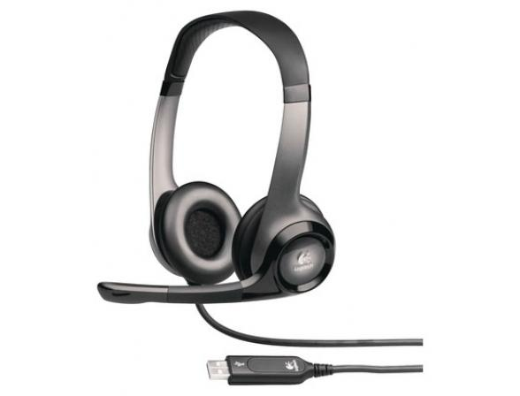 Проводная компьютерная гарнитура Logitech ClearChat Pro Stereo USB 981-000011