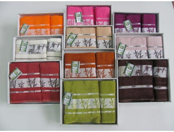 Комплект полотенец ARYA Megan 70х140 Бамбук 2 пр.