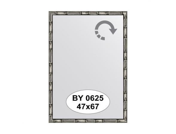 Зеркало в багетной раме EVOFORM серебро/бамбук (47х67 см) BY 0625