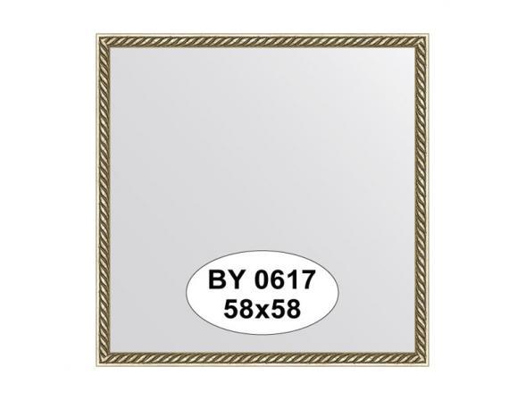Зеркало в багетной раме EVOFORM витая латунь (58х58 см) BY 0617