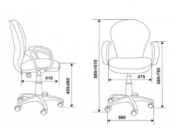 Кресло BURO CH-B687AXSN/brown