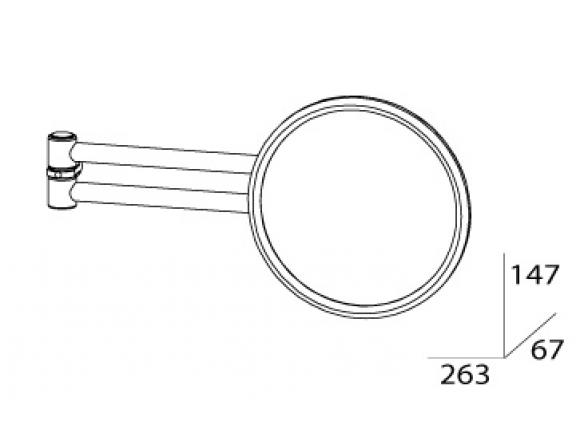 Зеркало косметическое настенное FBS Universal (компонент) UNI 032