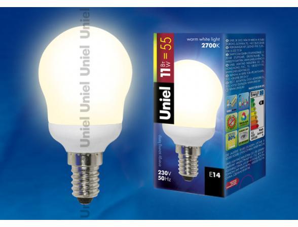 Лампа энергосберегающая Uniel ESL-G45-L11/2700/E14