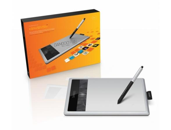 Графический планшет Wacom CTH-470S-RUPL Bamboo Fun Pen&Touch Small (3gen)