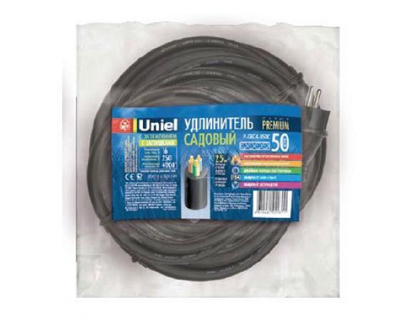 Удлинитель садовый с заземлением Uniel P-GEC2-050C