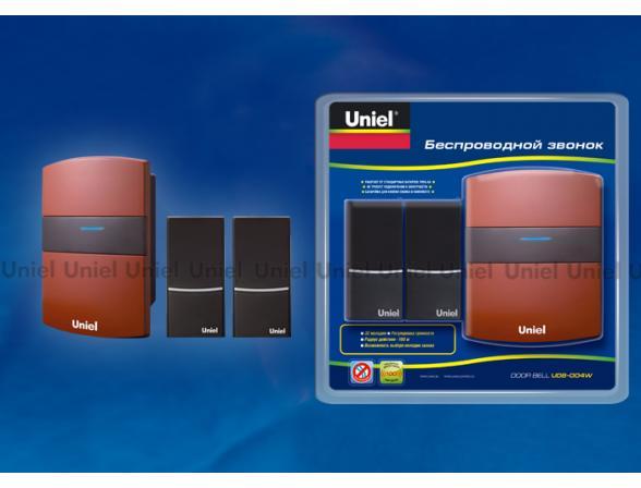 Звонок беспроводной Uniel UDB-004W-R1T2-32S-100M-RD