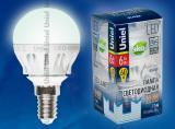 Светодиодная лампа Uniel LED-G45-6W/NW/E14/FR ALM01WH