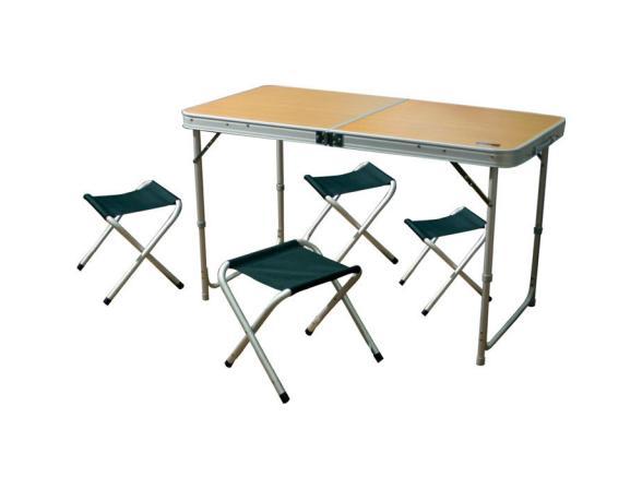 Складной стол с табуретками Camping World Convert Table Mini Plus 4