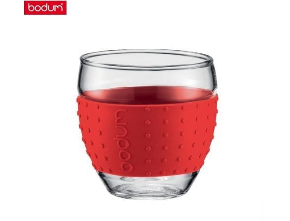 Набор бокалов BODUM 2 шт. Pavina 0.35л красный