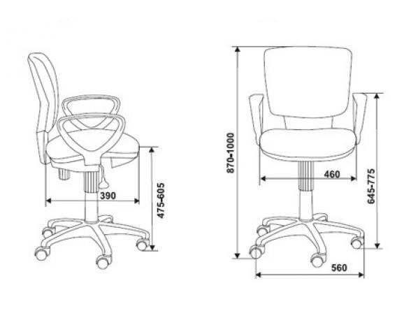 Кресло BURO CH-626AXSN/10-11