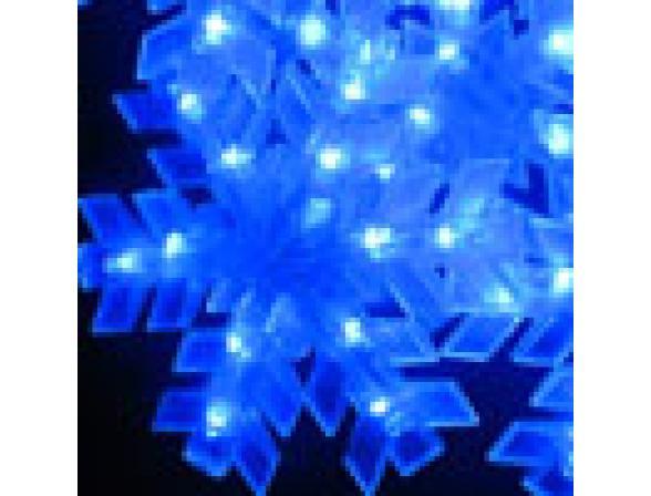 Светодиодные подвески Rich LED Снежинки 3*0.5 м, цвет: синий. Прозрачный провод.