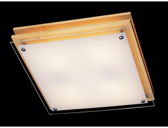 Светильник настенно-потолочный Eurosvet 2746/4 квадрат светлое дерево