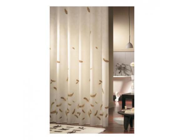 Шторка SEALSKIN Feathers , коричневый 180х200см (231651170)