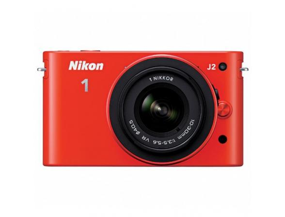 Цифровой фотоаппарат Nikon 1 J2 kit 10–30mm VR Orange
