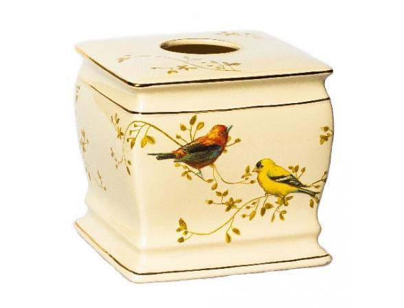 Бокс для салфеток (салфетница) AVANTI Gilded Birds