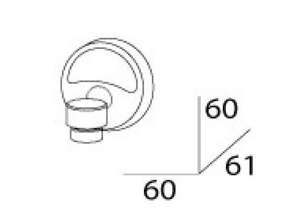 Мыльница магнитная FBS ELLEA ELL 005