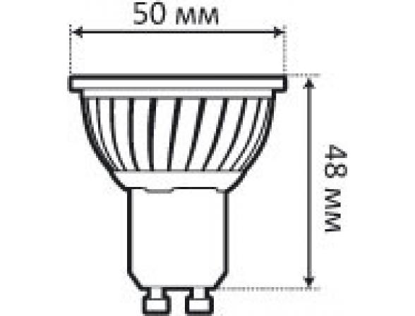 Светодиодная лампа Ecomir 3W MR16 GU10, 3 Вт, жёлтый/ матовый рассеиватель 43132