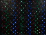 Светодиодная сетка Rich LED 2*1.5 м, цвет: мульти. Прозрачный провод.