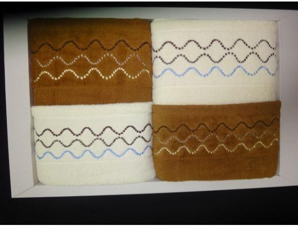 Комплект полотенец ARYA 4 пр. 50х90 2шт. 70х140 2шт.