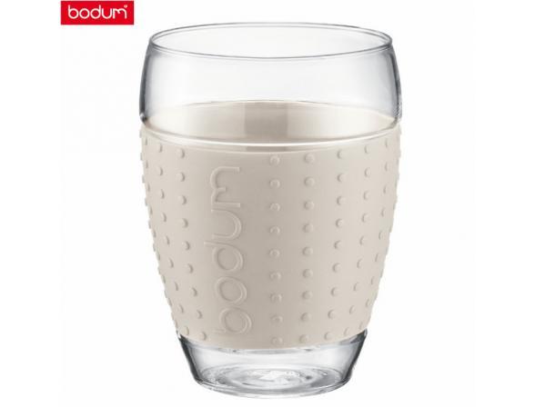 Набор бокалов BODUM 2 шт. Pavina 0.45л белый