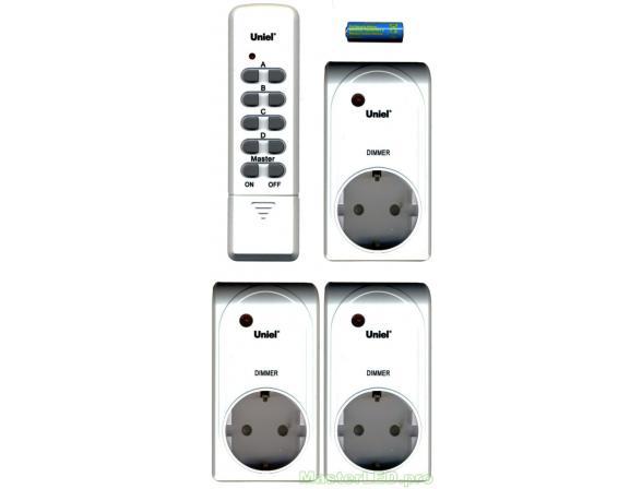 Пульт дистанционного управления светом Uniel USH-P006-G3-300W-25M SILVER