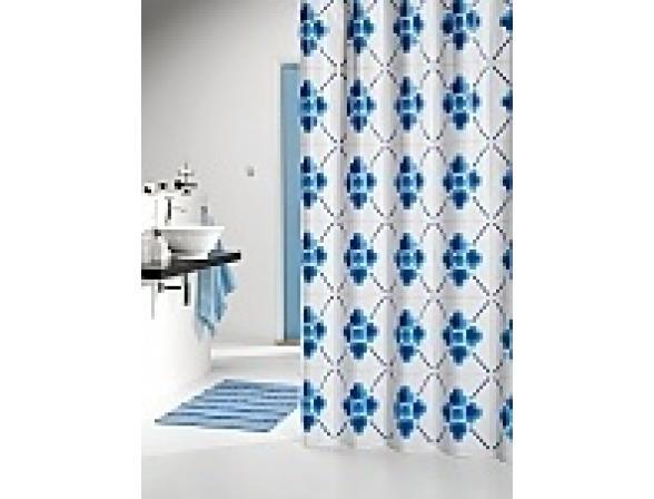 Шторка SEALSKIN Dutch Tile 180х200, винил, синий (210791321)