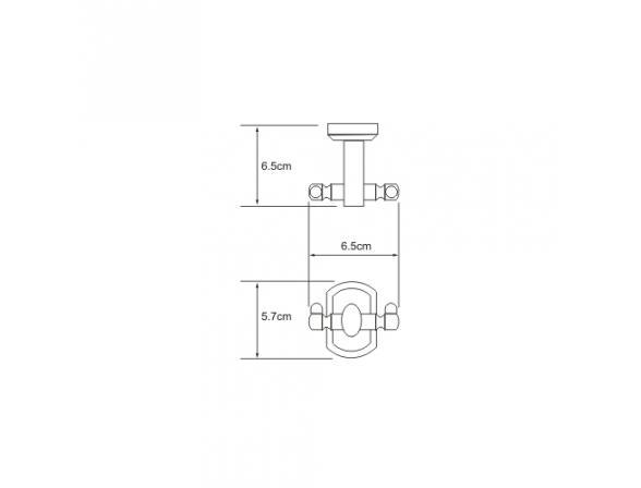 Крючок WasserKRAFT Oder двойной, К-3023D
