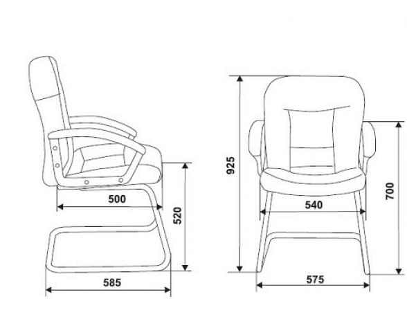 Кресло руководителя BURO T-9908AXSN-Low-V