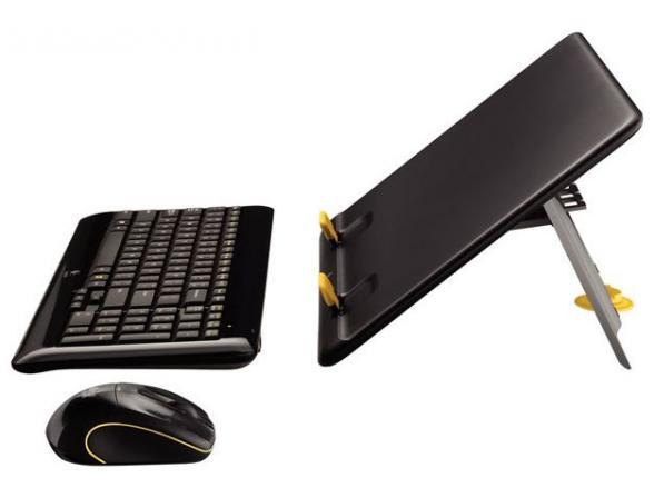 Комплект клавиатура+мышь Logitech Notebook Kit MK605 Black USB