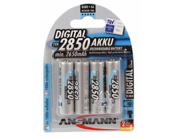 Аккумулятор Ansmann AA 2850 mAh DIGITAL Professional (уп 4шт)