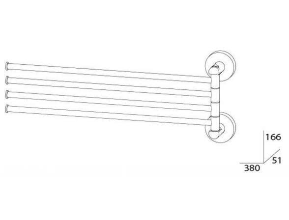 Держатель полотенец поворотный четверной ARTWELLE HARMONIA HAR 025 37 см