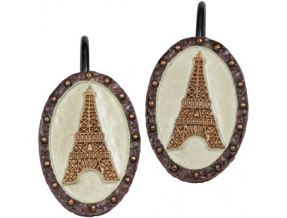 Набор из 12 крючков для шторки Creative Bath I Love Paris ILP83MULT