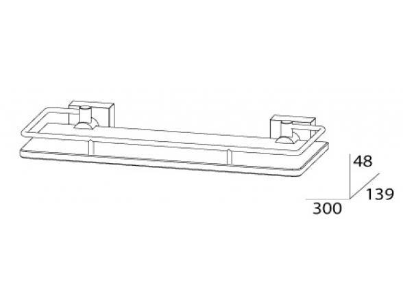 Полка с ограничителем FBS ESPERADO 30 см ESP 013