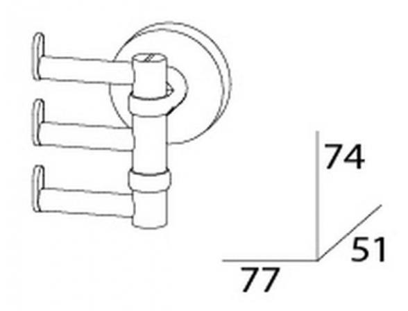 Крючок поворотный тройной ARTWELLE HARMONIA HAR 010