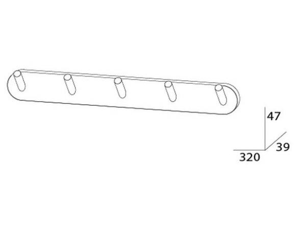 Планка с пятью крючками ARTWELLE HARMONIA HAR 003