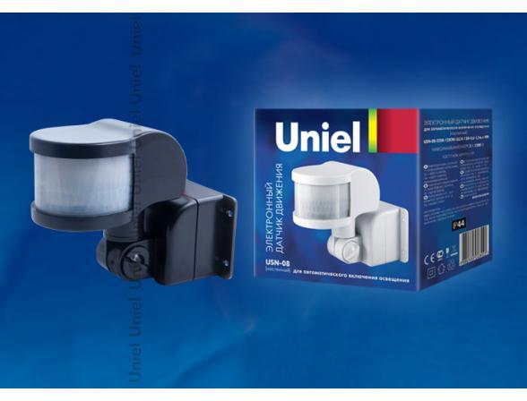 Датчик движения Uniel USN-08-220R-1200W-3LUX-12M-0,6-1,5m/s-BL