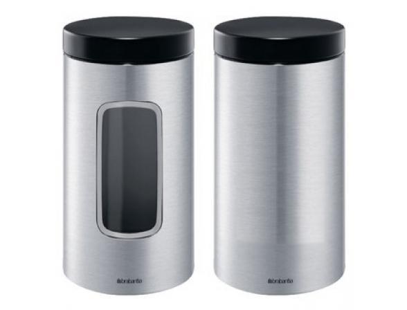 Контейнер для сыпучих продуктов с окном Brabantia 1,7л. 371820 с защитой от отпечатков пальцев
