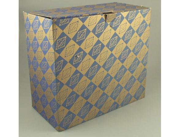 Ваза Crystal Art 30 см, 50903 (темно-синий)