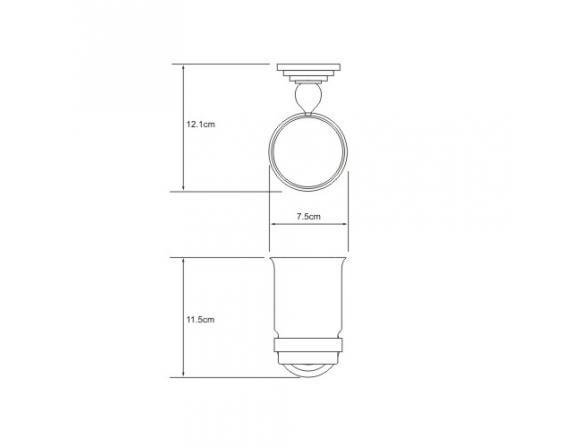 Подстаканник WasserKRAFT Ammer одинарный К-7028