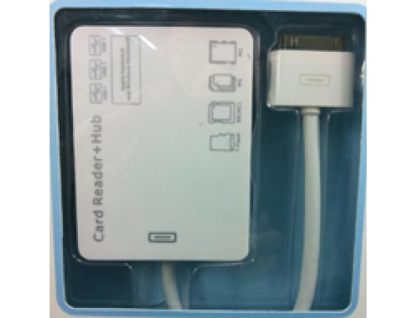 Кардридер + хаб+ 3USB + зарядка Apple iPad Connection Kit