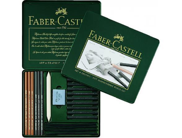Набор из угля для рисования Faber Castell PITT® MONOCHROME 22 предмета