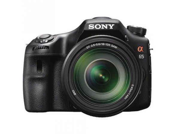 Зеркальный фотоаппарат Sony Alpha SLT-A65M Kit 18-135