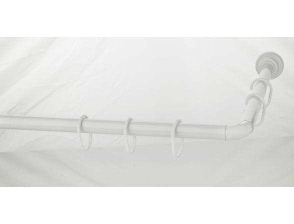 Карниз для ванной комнаты угловой GREKON 1270-80W